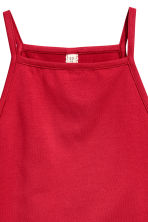 Crop top with a lace trim - Red - Ladies | H&M CN 3